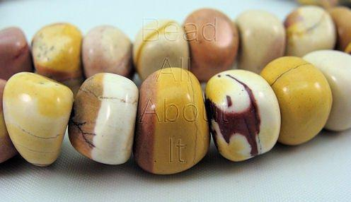 Mookaite 11x8mm Pebbles  Beads Strand