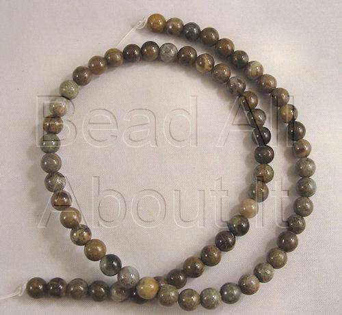 Snakeskin 6mm Round Beads Strand