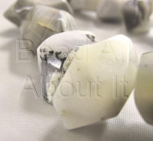Agate Mixed Gray Faceted Nugget Beads Strand