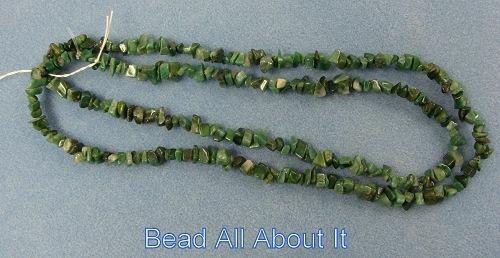 African Jade 8x5mm Semi Precious Chips Beads 36 inch Strand