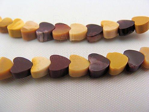 Mookaite 4mm Hearts Beads Strand