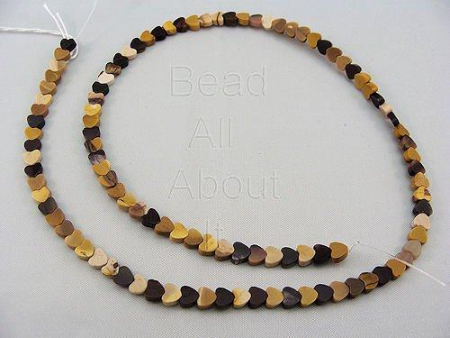 Mookaite 4mm Hearts Beads Strand