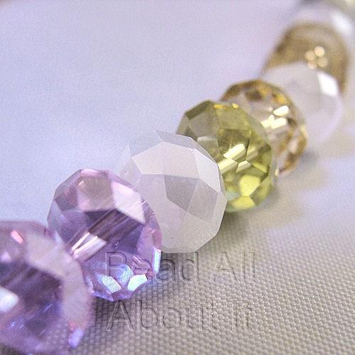 Chinese Crystals 8x5mm Faceted Rondelles Watercolors Beads Strand