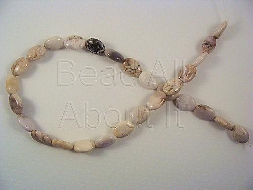 Brazillian Agate 10x13mm Puffed Oval Beads Strand