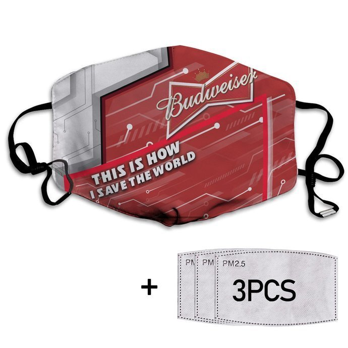 This Is How I Save The World Budweiser Face Mask