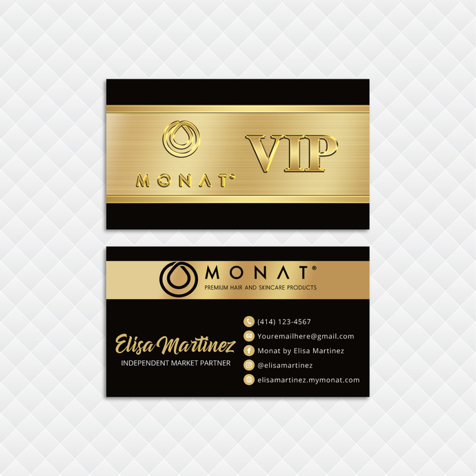 Premium Monat Business Cards, Premium Custom Monat Business Cards, Monat Care
