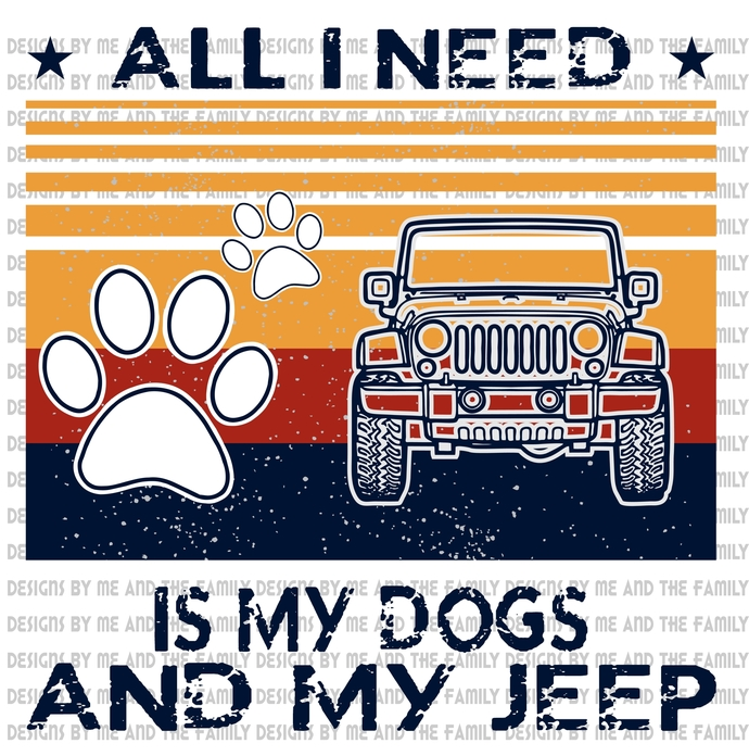 All i need is my dogs and my jeep, vintage, peace love dogs, peace love Jeep,
