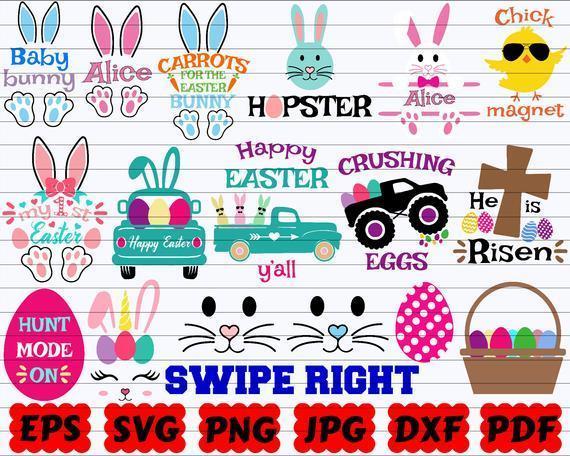 90 Easter Svg Bundle Easter Svg Spring Svg By Calosgoody On Zibbet