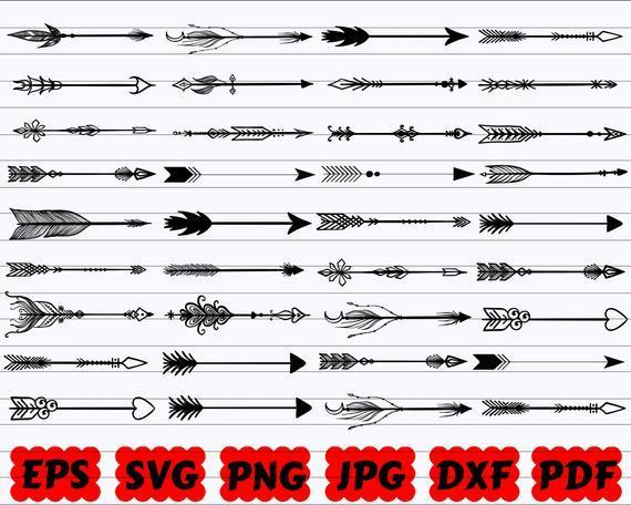 Arrows Svg Bundle Arrows Svg Arrows Cut By Calosgoody On Zibbet
