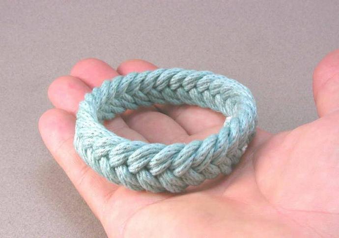 sky blue herringbone weave turks head knot rope bracelet 902 890