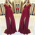burgundy chiffon prom dresses long off the shoulder simple elegant cheap prom