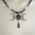 Amethyst Triple Moon Necklace, handmade jewelry wiccan pagan wicca goddess witch
