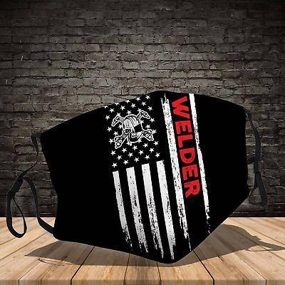 American Flag Welder Reusable Face