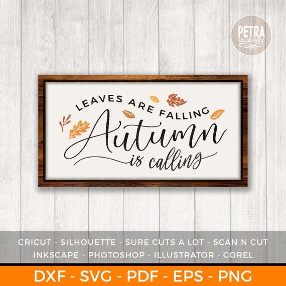 Fall Svg Leaves Are Falling Autumn Is By Customizedsvg On Zibbet