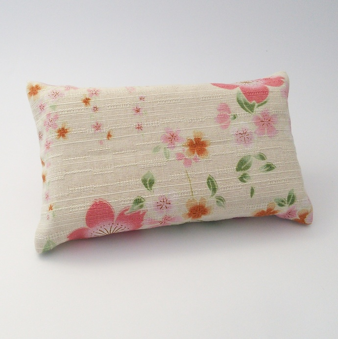 Pocket Tissue Holder - Pink Floral Upcycled Fabric