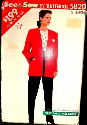 See & Sew 5820 Pattern By Butterick