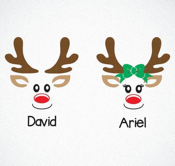 Christmas Reindeer Face Svg Deer Svg Reindeer By 8hamstore On Zibbet