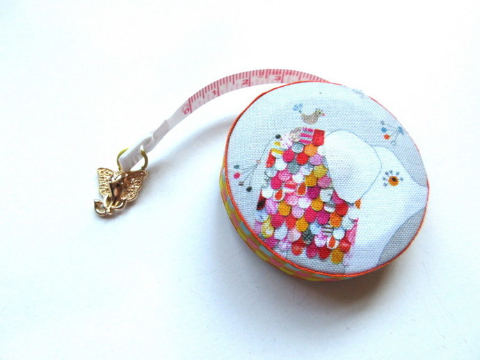 Tape Measure Petal Design Elephants Small Retractable Measuring Tape