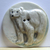 Polar Bear Porcelain Button by Diana McClure MMF