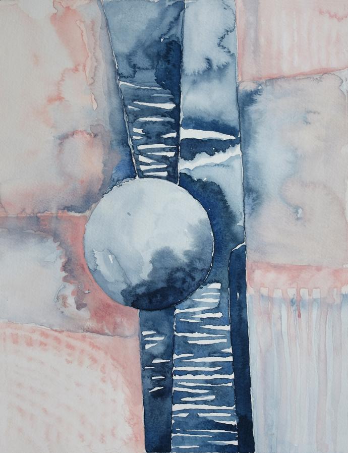 Bedroom Print Set, PRINTABLE Wall Art, Rust Navy pink Art, Set of 2 Prints,