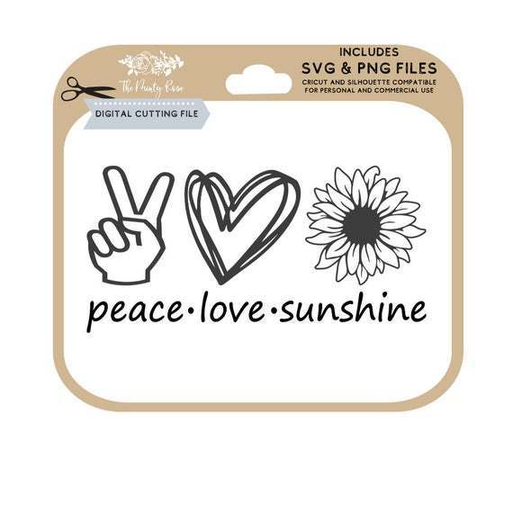 Peace Love And Sunshine Svg Sunflower Svg By Baumbach Store On