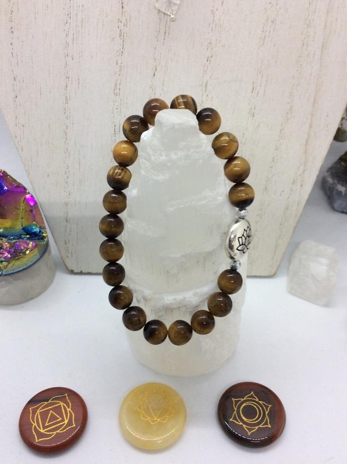Tigerseye LOTUS Bracelet