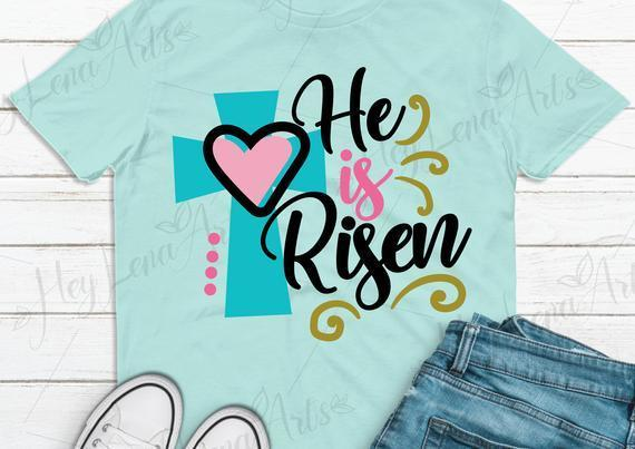 He Is Risen Svg Easter Svg Jesus Svg By Baumbach Store On Zibbet