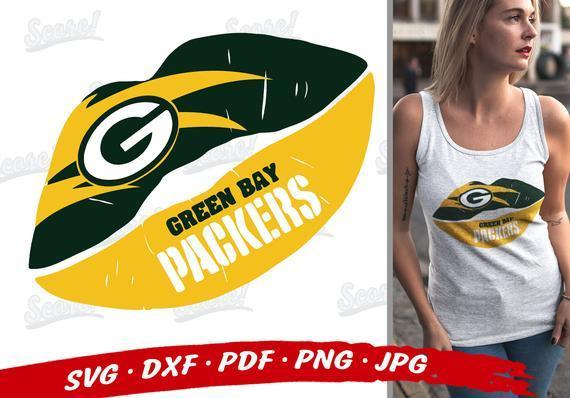 Green Bay PACKERS Lips Svg , Green Bay Packers Svg Files For Cricut , Packers
