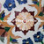 """28"""" X 28"""" Inch White Marble Inlay Table Top, Stone Inlay Table Top, Garden"""