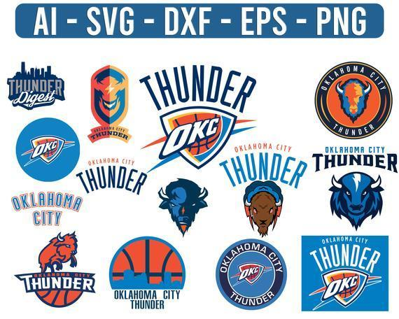 Oklahoma City Thunder NBA Sport Team Logo Basketball SVG cut file for cricut