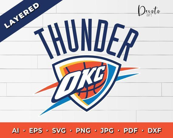 Oklahoma City Thunder svg, Oklahoma City Thunder svg for cricut, Oklahoma City