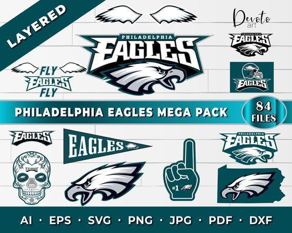 Philadelphia Eagles SVG Mega Pack! Philadelphia eagles cricut, eagles svg,