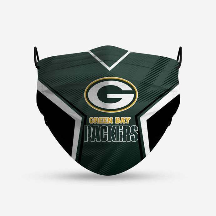 Greenreen Bay Packers Style 4 Face Mask, Adult Face Mask, Sport Face Mask,