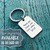 It takes a big, heart to teach, little minds, Silver Keychain, Silver Keyring,