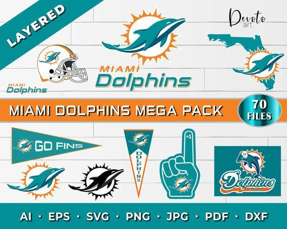 Miami Dolphins svg mega pack! Miami dolphins svg for cricut, dolphins svg,