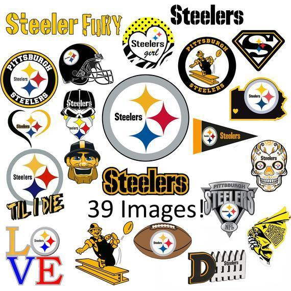 Pittsburgh Steelers SVG and PNG Bundle 39 Images NFL Logo Cricut Football Cut