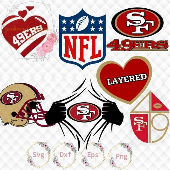 San Francisco 49ers Logo Svg Custom Sf By Football Svg Files On