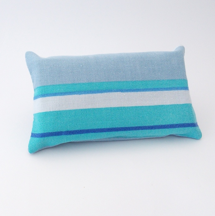 Pocket Tissue Holder - Stripes Upcycled Fabric