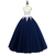 Blue Tulle with White Top Long Formal Gown, Sweet 16 Dresses