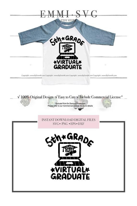 5th Grade Graduation Svg Virtual By Digital Cut File On Zibbet