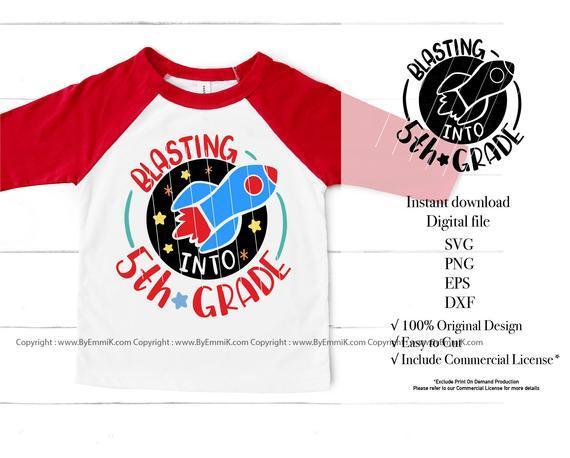 5th Grade Svg Back To School Svg By Digital Cut File On Zibbet
