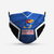 Kansas Jayhawks Style 4 Face Mask, Adult Face Mask, Sport Face Mask, Reusable