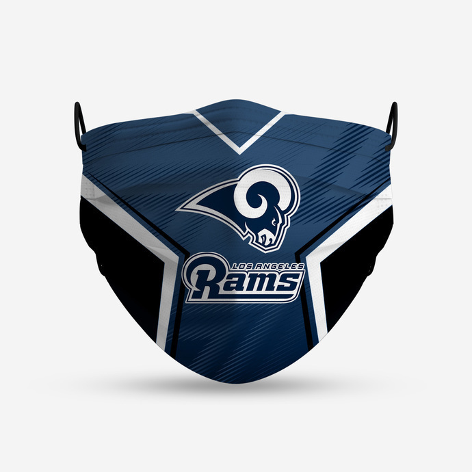 Los Angeles Rams Style 4 Face Mask, Adult Face Mask, Sport Face Mask, Reusable