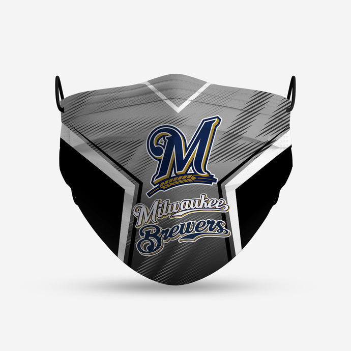 Milwaukee Brewers Style 5 Face Mask, Adult Face Mask, Sport Face Mask, Reusable