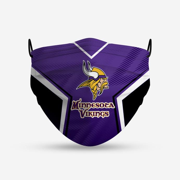 Minnesota Vikings Style 4 Face Mask, Adult Face Mask, Sport Face Mask, Reusable