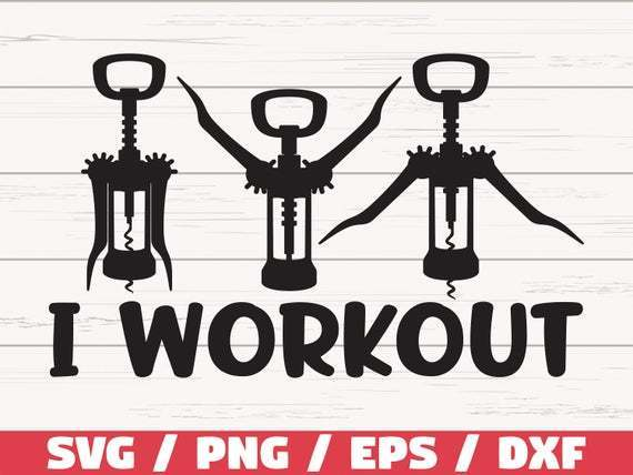I Workout Svg Cut File Cricut Commercial Use By 8hamstore On Zibbet
