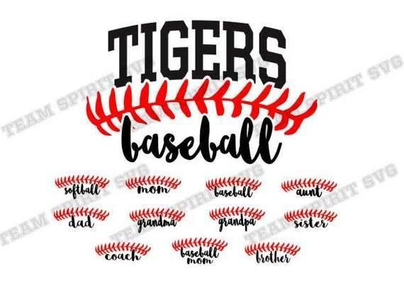 Baseball Svg Tigers Svg Baseball Laces By Football Svg Files On Zibbet