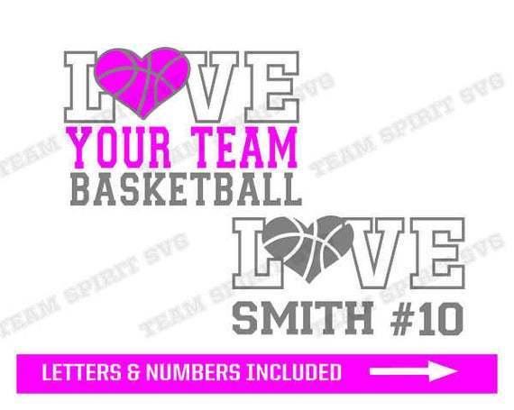 Basketball Heart Svg Diy Basketball By Football Svg Files On Zibbet