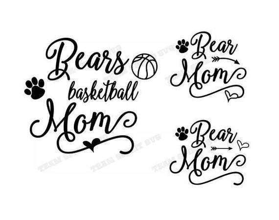Bears Basketball Mom Svg Dxf Eps By Football Svg Files On Zibbet