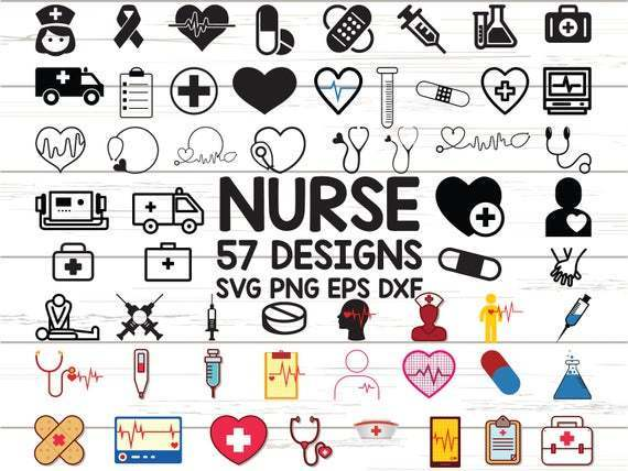 Nurse Svg Stethoscope Svg Nursing Svg Eps By 8hamstore On Zibbet